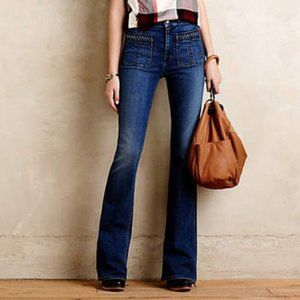 7 For All Mankind Hi-rise Braided Flare Jean 27